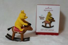 Hallmark Winnie the Pooh Baby's 1st Christmas Rocking Horse Ornament 2013 & Box - $17.23