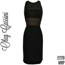 Vintage Black Dress Oleg Cassini LBD Beaded Formal Special Occasion Size... - $66.95