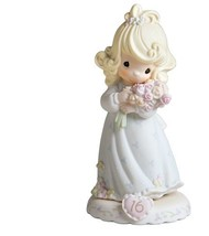 Precious Moments,  Growing In Grace, Age 16, Bisque Porcelain Figurine, ... - $82.26
