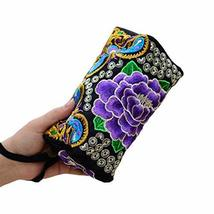 PANDA SUPERSTORE Embroidery Bag Handbag Clutch Ethnic Small Square Package Phone
