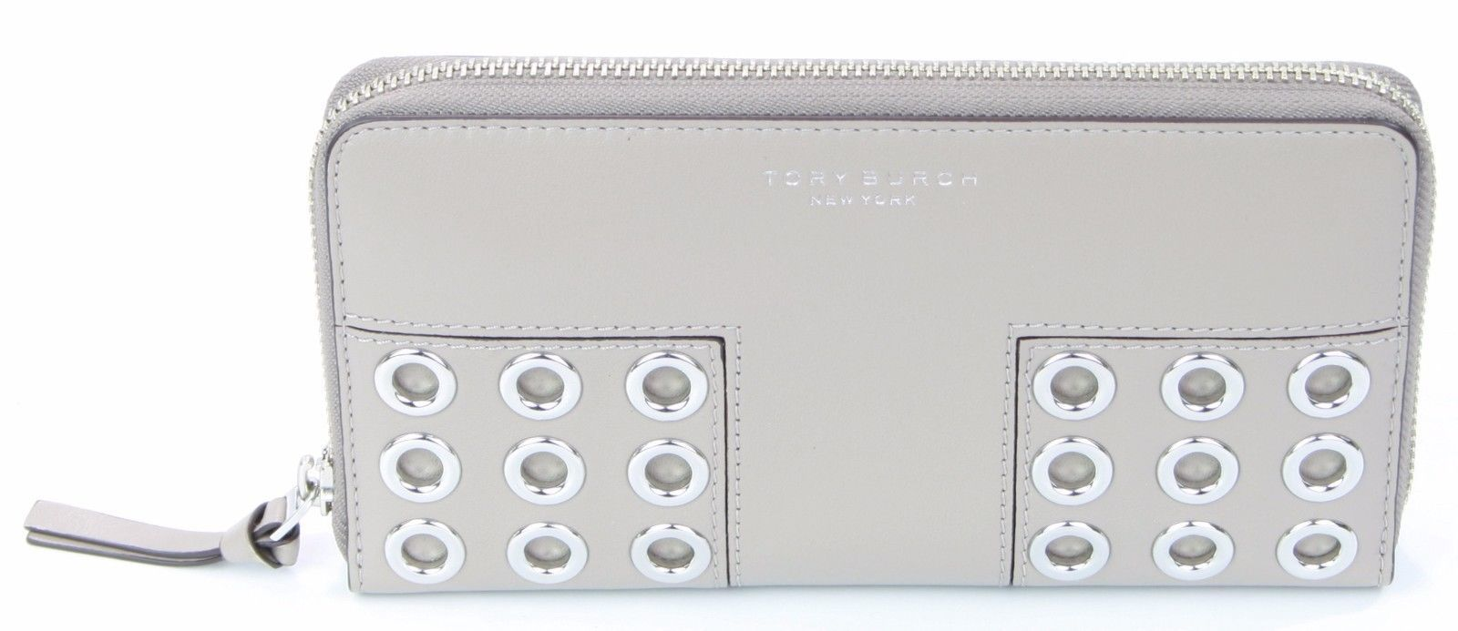 281934ce05d6 Tory Burch Block-T Grommet French Grey Zip and 50 similar items. S l1600