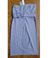 Heatherette Long Pencil Slim Knit strapless Dress Womens size L New with... - $13.86