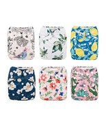 Babygoal Baby Cloth Diapers for Girls, Washable Reusable Pocket Nappy, 6... - $39.75