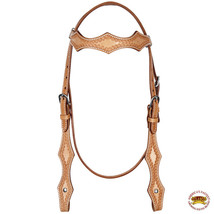 Hilason Argentinian Leather Horse Browband Headstall Tan U-6-HS - $43.31