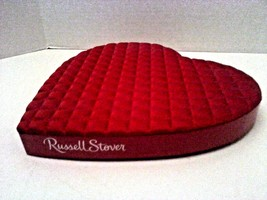 Russell Stover Red Valentine's Empty Quilted Heart Box Foil Insert  - $29.95