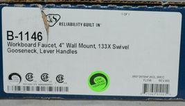 T S B 1146 Workboard Faucet 4 Inch Wall Mount Swivel Gooseneck Lever Handles image 4