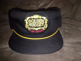 Vtg Brown Golden Nugget Las Vegas Snapback Hat made in usa by american w... - $44.55