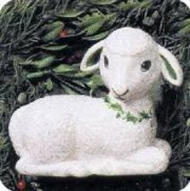Joyful Lamb Holiday Favorites Collection Showcase Ornament 1994 Hallmark... - $15.00