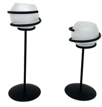 """Pair of Party Lite Wrought Iron Votive Candle Holders 10""""H,  8""""H - $40.49"""