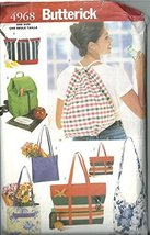Butterick 4968, Carry-all Bags. 7 Versions. - $13.23