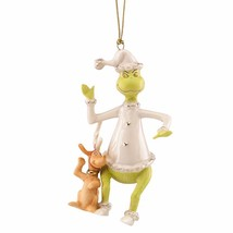 Lenox Grinch & Max Hear The Whos Singing Ornament Dr Seuss Stole Christm... - $130.00