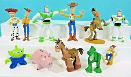 Disney Toy Story 1 2 3 PVC Figure Cake Topper Lot Woody Jessie Hamm Rex ... - $49.95