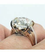 Michelle Albala 925 Sterling Silver Chunky CZ Statement Ring Size 7 FREE... - $39.59