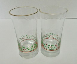 Arby's 1987 Libby Christmas Collection Tumblers Glasses Holly Berries Lo... - $14.30