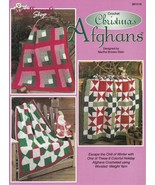 Christmas Afghans Stars Tiles Logs Wreath Geese 6 Blankets Warmth Holida... - $15.83