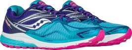 Saucony Womens Ride 9 Running Shoe, Navy/Blue/Pink, 6 W - Wide NEW IN BOX - $77.99