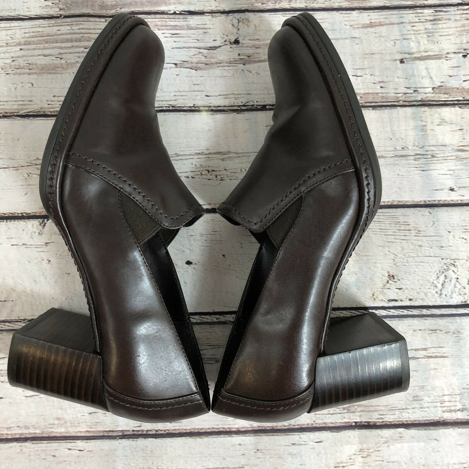 Nine West Brown Block Heel Loafer - Size 7