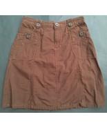 Cherokee Brown Skirt 4 Orange Threading A-Line Above Knee Casual - $8.90