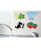 RNV Summer Magnet Set of 4 with Refrigerator Card | Bicycle, Scottish Te... - $10.00