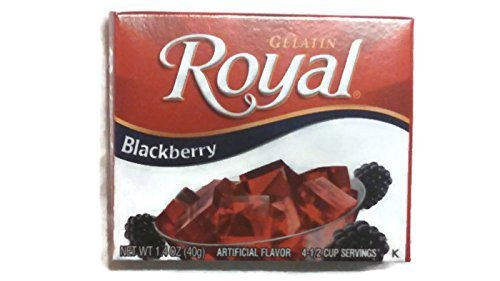 Royal Gelatin Blackberry, 1.4-Ounce Pack of 6