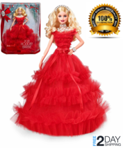 Gift Barbie 2018 Holiday Doll, Blonde CHRISTMAS GIFT FREE AND FAST SHIPPING - $82.77