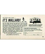 1963 Print Ad Mallard 17 1/2 ' Drake Travel Trailers West Bend,WI - $8.27
