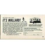 1963 Print Ad Mallard 17 1/2 ' Drake Travel Trailers West Bend,WI - $8.27