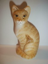 Fenton Glass Natural Orange Tabby Stylized Cat Kitten GSE Ltd Ed M Kibbe... - $222.62
