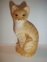 Fenton Glass Natural Orange Tabby Stylized Cat Kitten GSE Ltd Ed M Kibbe... - $222.62