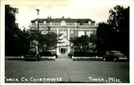 Vtg Postcard RPPC 1940s Tunica Mississippi MS Tunica County Courthouse w... - $34.95
