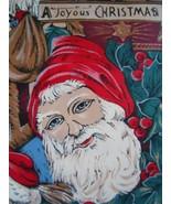 Hasting & Smith A Joyous Christmas Tie Silk Mens Santa Claus Necktie - $3.50
