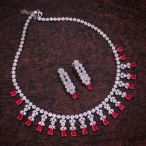 Swarovski Designer Hochwertige Vergoldete Rubinrote CZ-Diamant-Luxus-Schmuck - $203.91