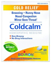 Boiron Coldcalm, 60 Tablets, Homeopathic Medicine for Cold Relief - $11.69