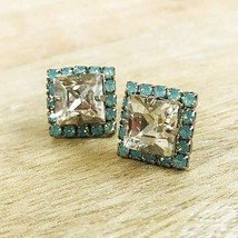 Sorrelli Square Cut Mint Alabaster Crystal Post Earring - $48.51