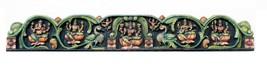 Wall Panel Wood Hand Carving God Ganesha Home Decor Art Vintage Collectible - $2,564.05