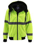 Men's Class 3 Safety High Visibility Water Resistant Reflective Neon Wor... - $36.62+