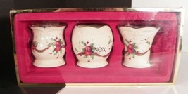 Lenox Holiday Tartan Votive Candle Holder Set of 3 with Original Box 643... - $13.81