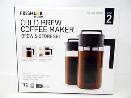Freshlok by Takeya Cold Brew Coffee Maker Brew and Store Set of 2 - $28.50