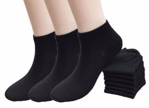5a4cc8c66 12 Pairs Women's Black Ankle Socks Girls and 50 similar items