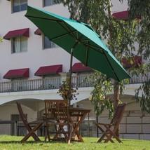 Patio Umbrella Market Garden Outdoor Table Tilt Crank Aluminum Fabric Da... - €108,13 EUR