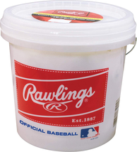 Rawlings Official League Recreational Grade Olb3/R8U Baseballs, Bucket O... - $52.46