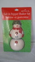 Hallmark Snowman Salt & Pepper Shaker Set New in Package Free Shipping - $15.26