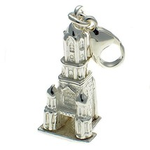Sterling 925 Silver Tom Tower, Christchurch University, Oxford England C... - $35.28