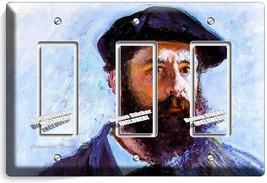 Claude Monet Self Portrait Painting 3 Gfi Switch Outlet Wallplate Room Art Decor - $16.19