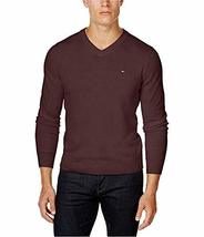 Tommy Hilfiger Mens Signature Pullover Sweater, Burgundy