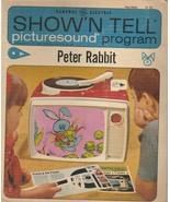 Peter Rabbit Show 'N Tell Picturesound Program 1967 Vintage ST 206 - $8.90