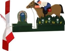 Horse Racing Jockey Wooden Hand Painted Whirligig....29  -HorseR - €58,26 EUR