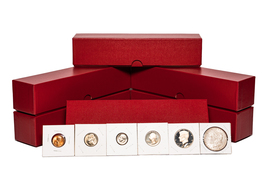 "2"" x 2"" (6 Pack) Coin Flips Asortment w/Red storage boxes. (600 Coin Flips) - $39.95"