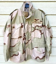USGI COAT COLD WEATHER FIELD DESERT CAMO M-65 JACKET - MEDIUM REGULAR. - $84.15