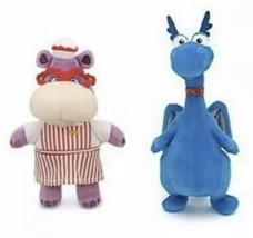 "Disney Jr Doc McStuffins 8 1/2"" Stuffy Dragon AND 8'' Hallie Hippo Plush - $14.70"